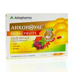 ARKOPHARMA Arkoroyal Royal'fruits ampoules 10ml x 20