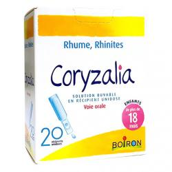 BOIRON Coryzalia Rhume Rhinite solution buvable 20 récipients unidoses