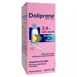 DOLIPRANE 2.4% sans sucre suspension buvable flacon 100ml